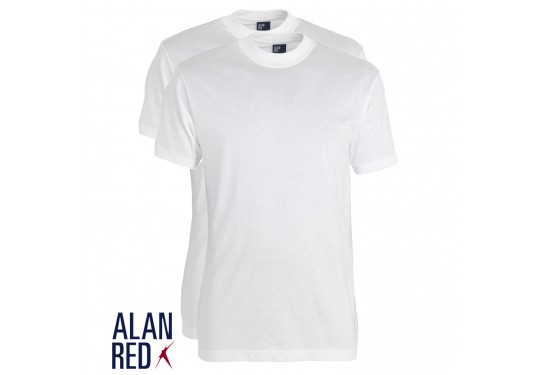 Alan Red Virginia 2-pack White Wit Herenkleding T-shirts