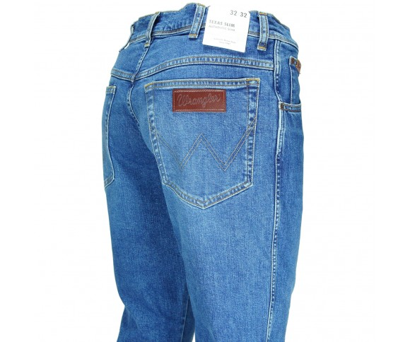 Wrangler Texas Slim Game On Blauw W12ST112E 292000669